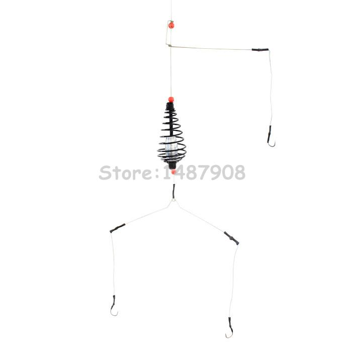Samsfx Crappie Carp Spring Fishing Groundbait Feeder Rigs Group With 6 Kinds Of Lead Sinker 9
