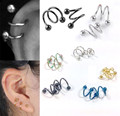 Punk Stainless Steel S Spiral Helix Ear Stud Lip Nose Ring Cartilage Piercing Jewelry Fashion Earrings brinco brincos EAR-0064