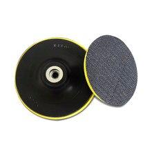 Tampons de polissage 4 pouces 5 pouces, disque auto-adhésif 100mm 125mm pour meuleuse d'angle, disque de polissage à ventouse pour papier de verre de voiture, 1 pièce