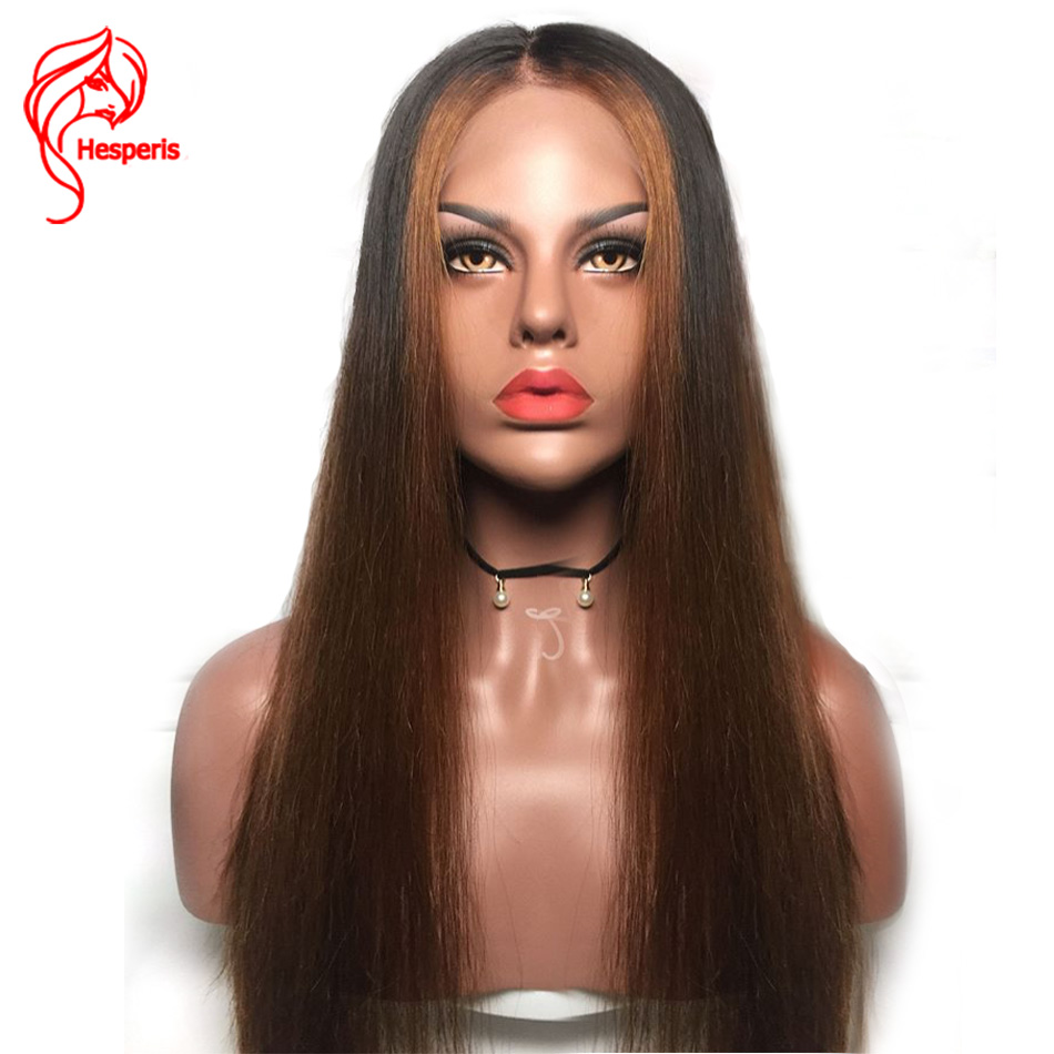 Hesperis Ombre Lace Front Wigs Brazilian Remy Lace Front Human Hair Wigs Pre Plucked 13x6 Lace