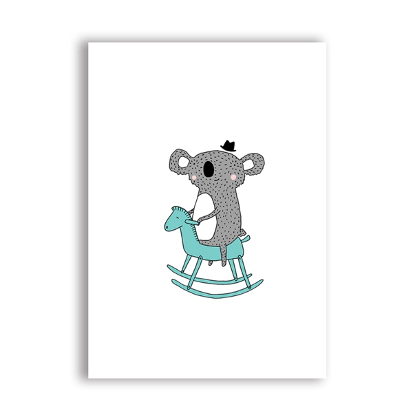 Cartoon-Elephant-Canvas-Painting-Wall-Picture-Art-Prints-Cute-Animals-Elephant-Koala-Print-Poster-Baby-Room (3)