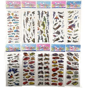 10pcs Different 3D Stationery Sticker On Notebook Phone Laptop Christmas Gifts Car Gun Aircraft Office School Supplies Stationery Stickers