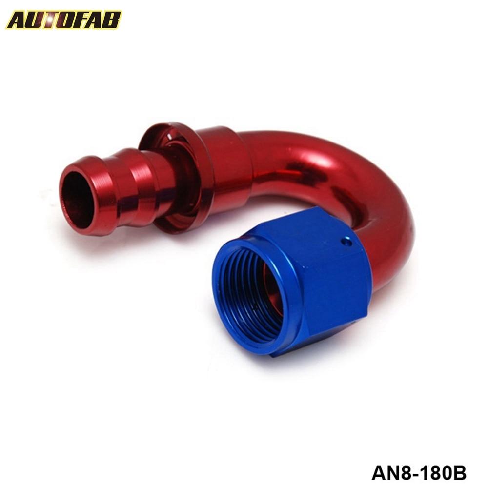 6 AN 90 Degree Push Lock Oil//Fuel//Gas Hose Line Fitting Adapter Black Aluminum