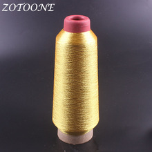 ZOTOONE Metallic Gold Embroidery Thread DIY Handmade Leather For Jeans Clothes Sewing Polyester Supplies