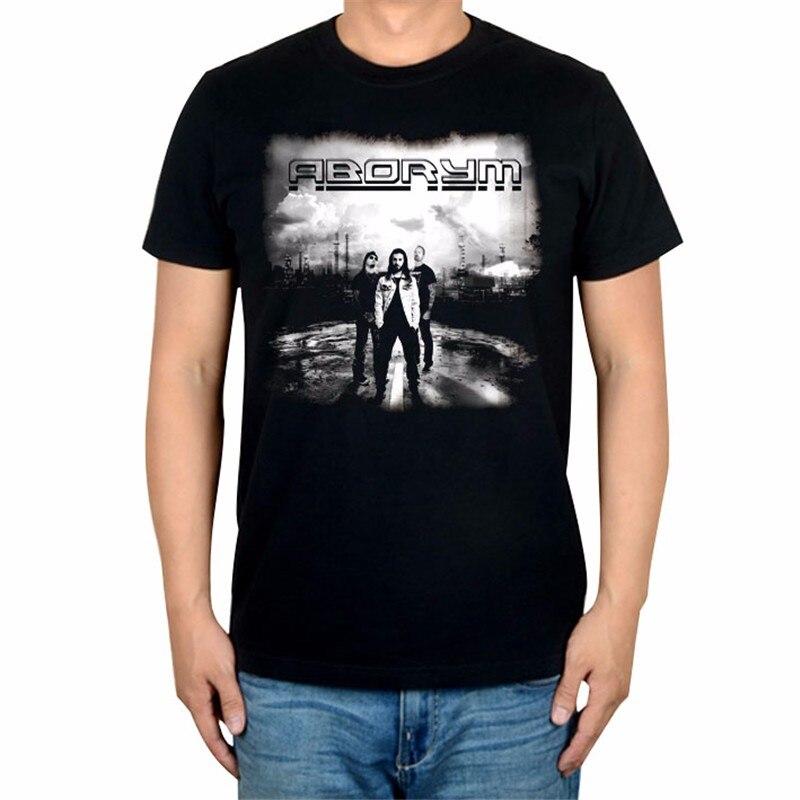 6 дизайнов, Летний стиль, ABORYM, панк-рок, брендовая черная футболка, 3D mma camiseta, фитнес, хлопок, футболка с тяжелым металлическим принтом, футболки