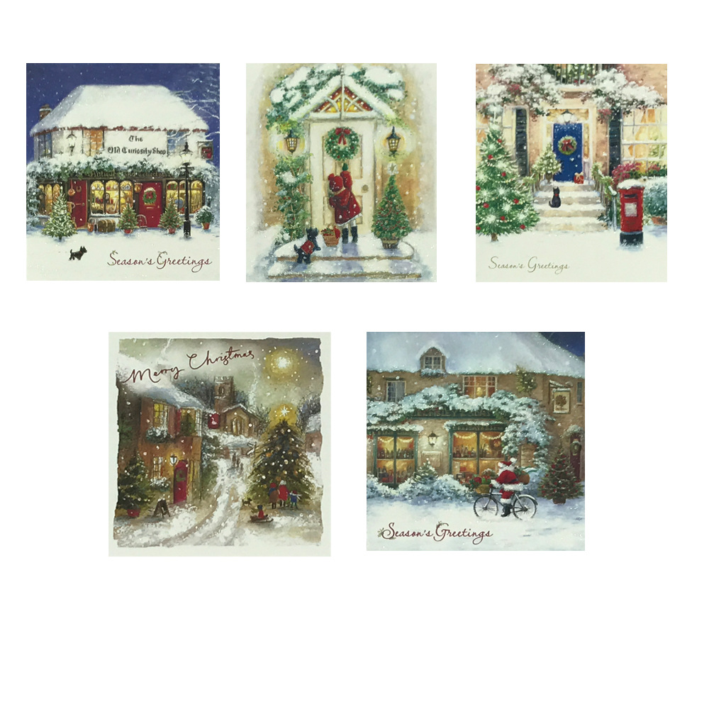Christmas Gift Sets Diy.Us 3 94 21 Off Diamond Embroidered Vintage Christmas Greeting Card Set Diy Diamond Painting Christmas Gift Card In Diamond Painting Cross Stitch
