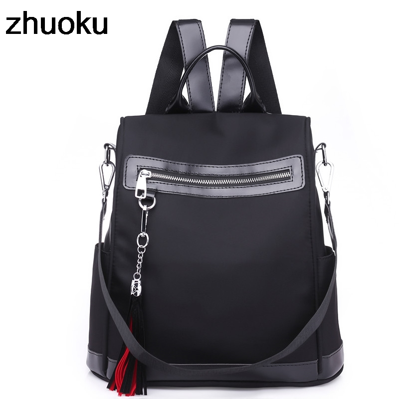 Us 14 66 45 Off Women Casual Backpack Waterproof Nylon School Bags Students Female Travel Knapsack Shoulder Rucksack Bag For Ager S In