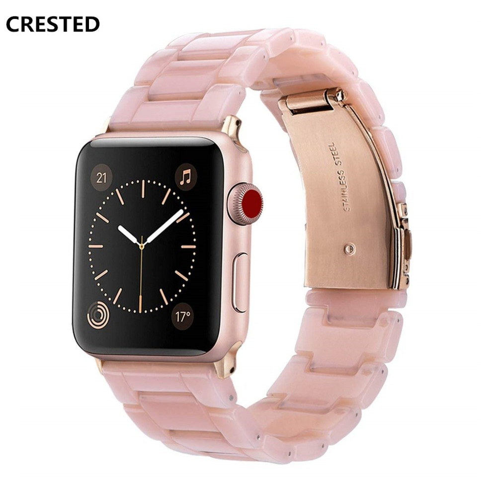 CRESTED Resin strap For apple watch band 42mm 38mm iwatch
