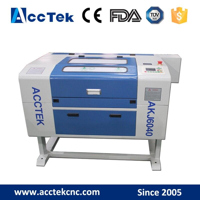 Acctek china mini cheap Acctek desktop co2 laser engraving & cutting machine 6040/co2 laser cutter machine for wood  manufacturer 3020 40w mini co2 desktop laser engraving cutting machine