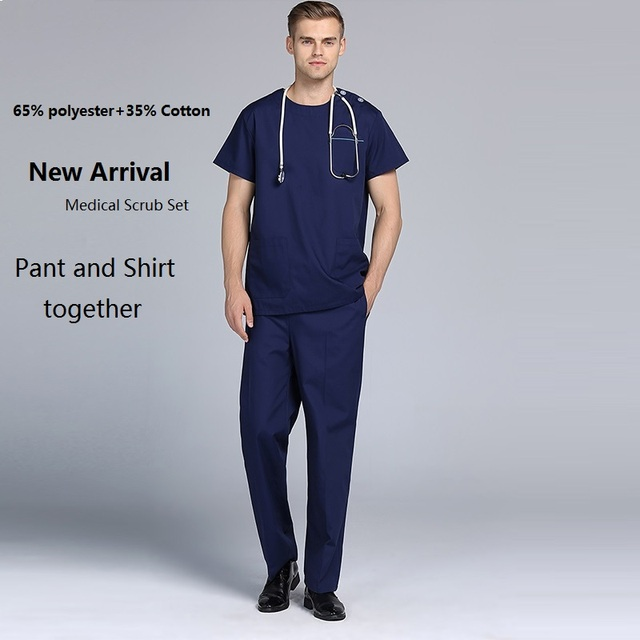 2018 Hospital Dental Clinic Male Doctor Short Sleeve Surgical ...