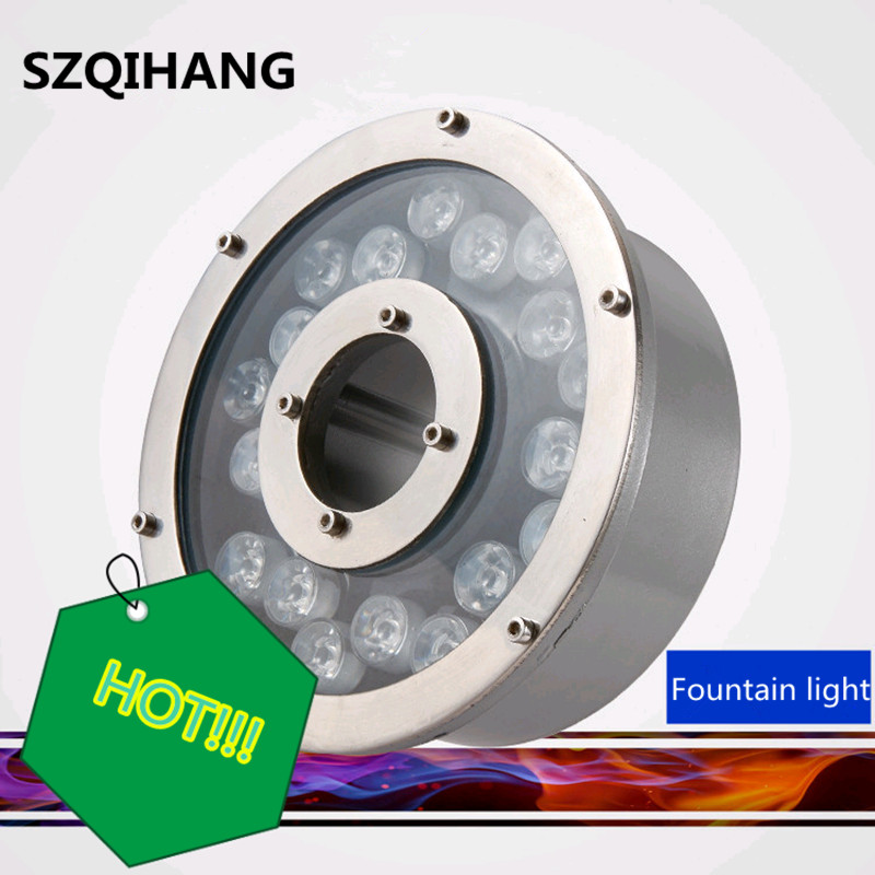 Collection Here Free Ship 6w 9w 12w 18w Aluminum Led Fountain Lamp Ip68 Rgb Underwater Swimming Pool Light Ac/dc12v Pond Decorative Lighting Led Underwater Lights Led Lamps