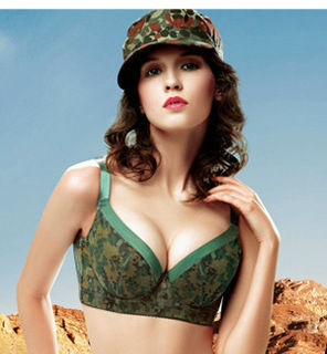 79218eb35c Army Military Camouflage Style High-end Women underwear Bras push up bra  BCD 3 4 Cup The first 10 orders Get free Underpants