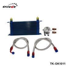 Pivot-Универсальный 10 Строки Масляный Радиатор Комплект M20XP1.5 3/4X16 UNF Масляный Фильтр Место Адаптер TK-OK1011