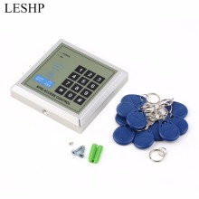 LESHP Security Electronic RFID Proximity Entry Door Lock Access Control System + 10 Key Fobs Password Access Control Door Opener