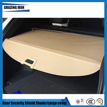 For Santa Fe 2013.2014.2015.2016 Rear Trunk Security Shield Cargo Cover High Qualit Auto Accessories Black Beige