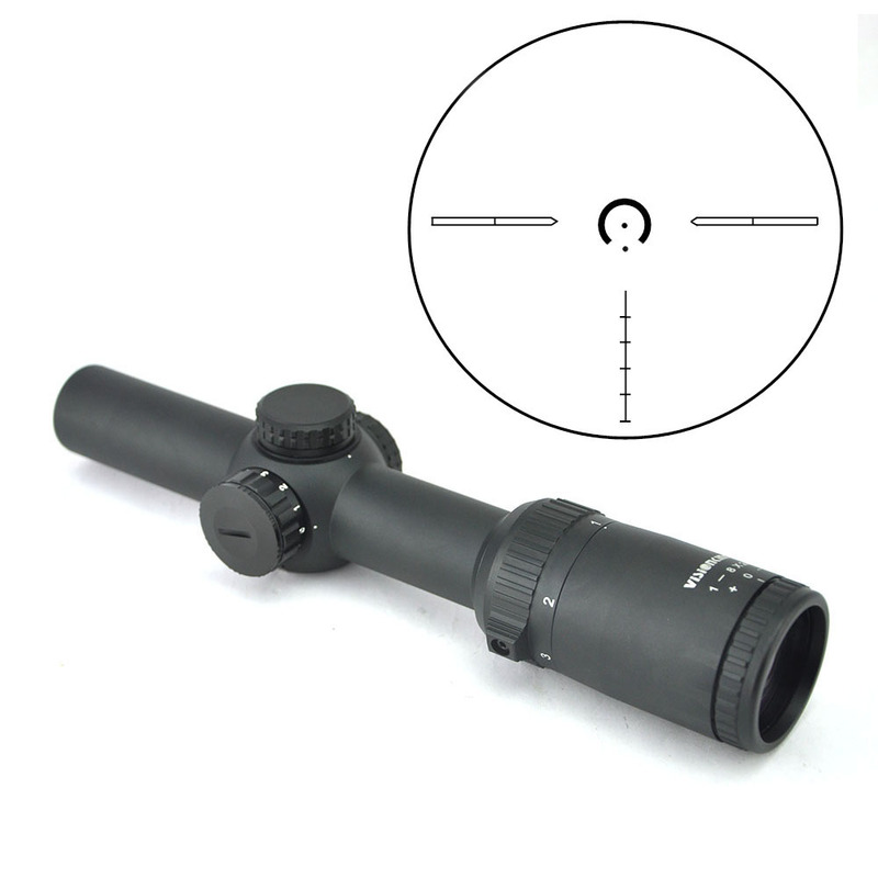 Visionking 1 8x24 Compact Long Eye Relief Riflescope High Quality Metal Body Low Turret 1 10