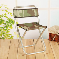 Multifunctional outdoor fishing stool portable folding stool, metal backrest stool folding stool and outdoor fishing camping