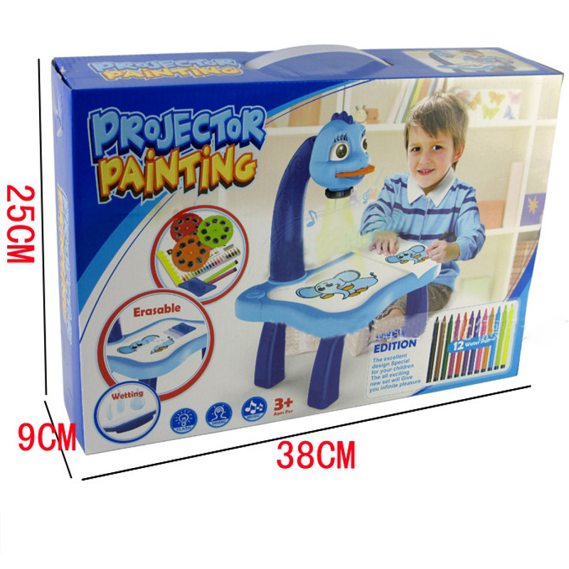 jsxuan little treasures cute artist projector painting set with blue