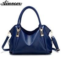 Ainvoev Luxury Women Handbags Brand Imitation Leather Bags Large Capacity Female Shoulder Bag Ladies Fashion Tote