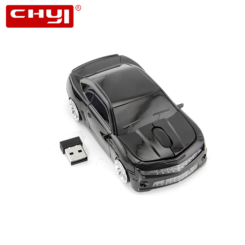 CHYI Wireless Mouse Ergonomic 2.4Ghz 1600 DPI 5th-gen Camaro Muscle Car Mice With 4 Colors Sports Coche For PC Laptop Desktop