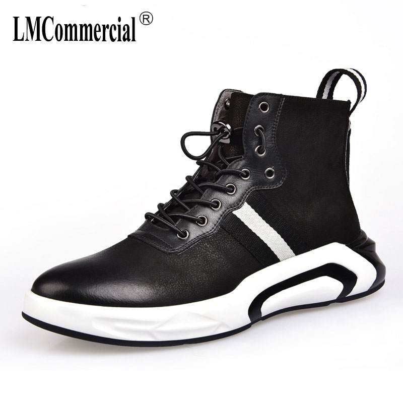 2018 new autumn winter British retro all-match cowhide ashmere zipper Genuine leather men's boots breathable boots men casual 2017 new autumn winter british retro zipper leather shoes breathable sneaker fashion boots men casual shoes handmade