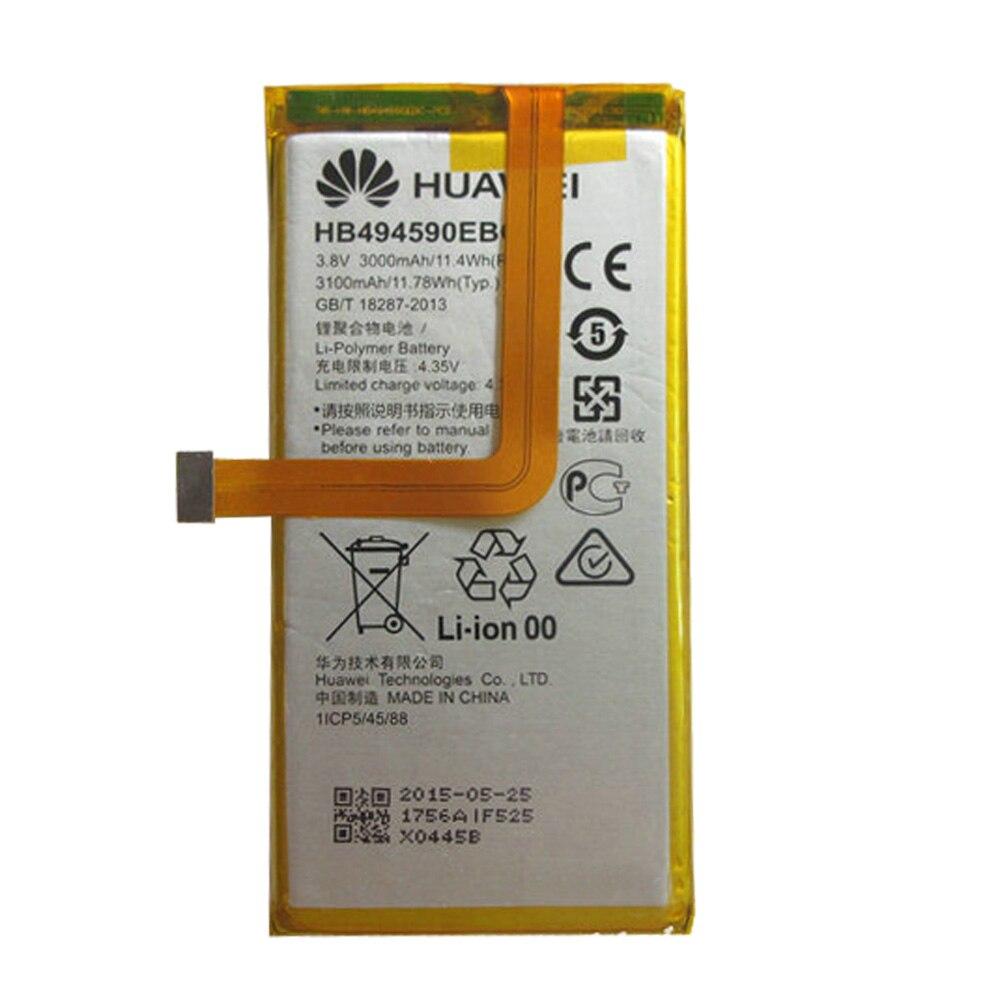 100% original hb494590ebc 3000 mah recarregável para huawei honra 7 glória PLK-TL01H ATH-AL00 PLK-AL10 bateria do telefone