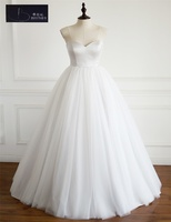 Simple Style A Line Short Front Long Back Lace Summer Beach Wedding Dress