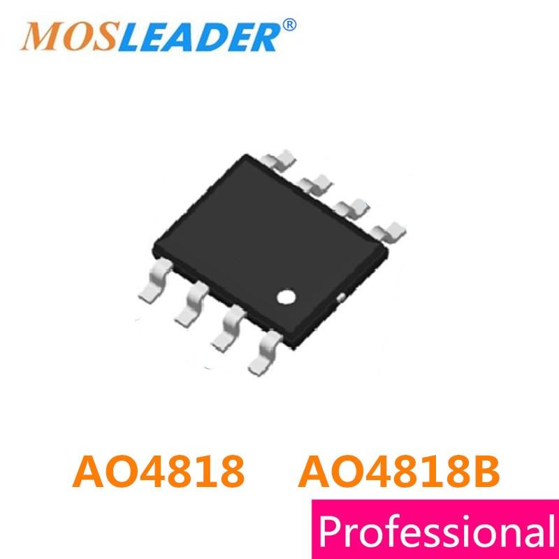 Mosleader AO4818 AO4818B SOP8 100PCS 1000PCS 2500PCS Dual N-Channel 30V 8A 8.5A High quality белый город 978 5 7793 4818 8