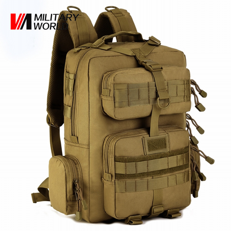 30L Men Tactical Military Backpack Molle Sport Cycling Hunting Bags Camping Hiking Climbing Shoulder Bag Backpacks emersongear lbt2649b hydration carrier for 1961ar molle backpack military tactical bags hunting bag multicam tropic arid black