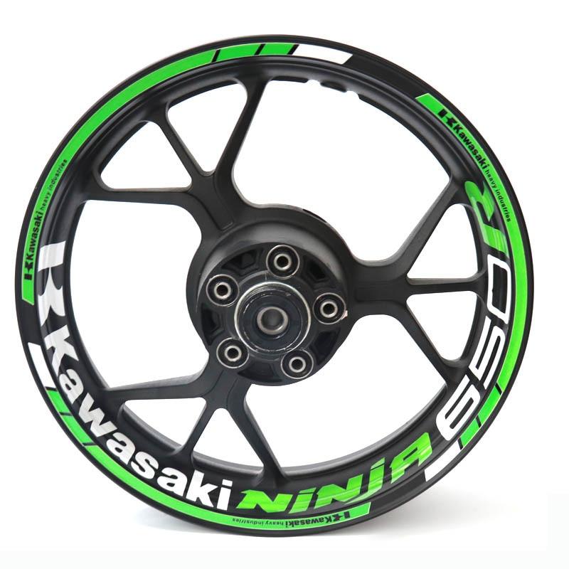 New High Quality Fit Motorcycle Wheel Sticker Stripe Reflective Rim For KAWASAKI Ninja650 Ninja650R NINJA 650 R