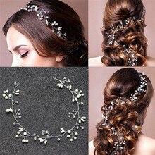 1 uds, diadema de novia de boda dulce con hojas de perlas Vintage a la moda, tocados de novia, tocado de pelo para dama de honor