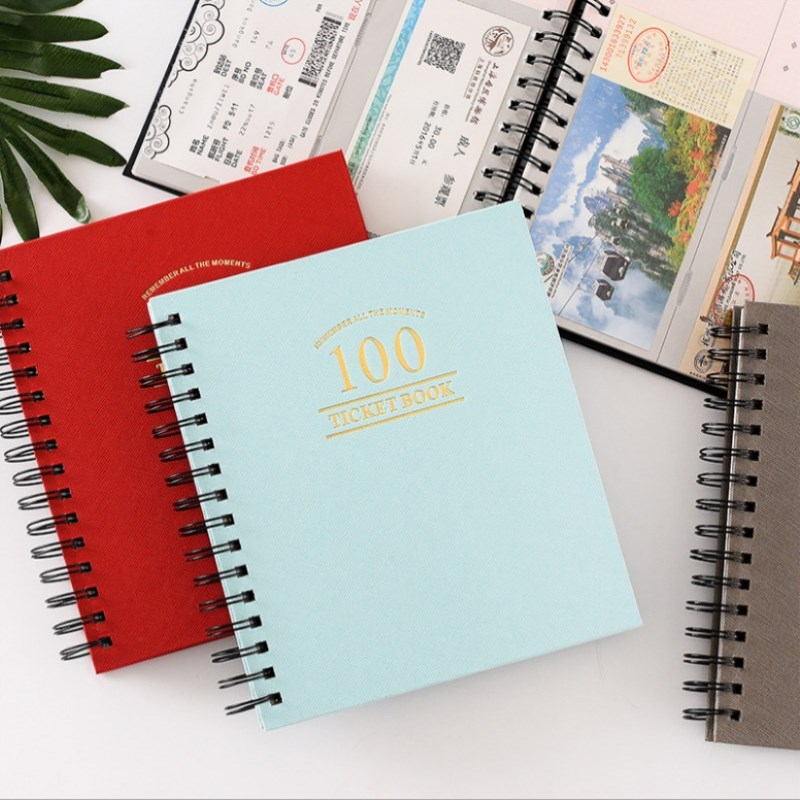 New DIY Album Concert Tickets Paper Money Collection Book PU Leather Paper Movie Tickets Collection Album Inset Photo Album image
