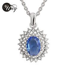 Exquisita joyería de platino plateado circón collar de la joyería moda mujer colgante collar de dos colores a elegir entre NK1693-COF