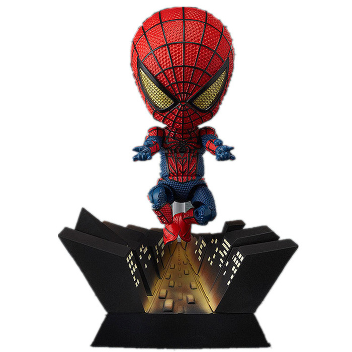 9-11cm Funko <font><b>pop</b></font> Action figure Marvel's The Avengers <font><b>spiderman</b></font> figma cute lovely PVC box-packed movie figurine. GH098
