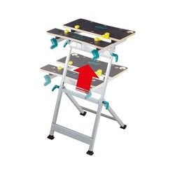 WOLFCRAFT 6182000-MASTER 600 table workstation and Restraint with high altitude dimmable and Tilting 650x780-955x420-530mm