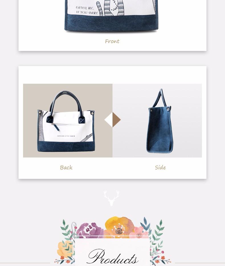 Flower Princess Canvas Cat Large Tote Bags Women Handbags Ladies Hand Bags Bolsa Feminina Bolsos Mujer Dames Tassen Borse Donna 5
