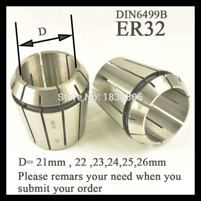 Image 2 - 1pcs ER 32 ER32 Spring collet clamping tool collets drill chuck arbors for CNC milling lathe tool/milling cutter DIN 6499B-in Tool Holder from Tools