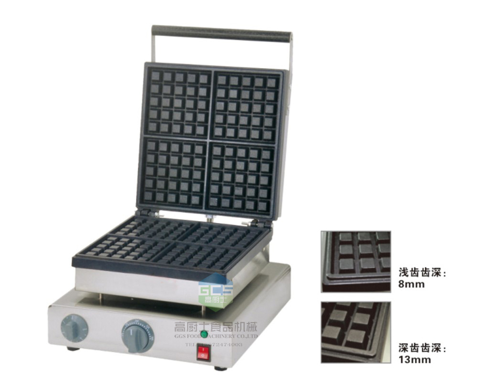 110v 220v Electric 4 pcs waffle maker machine Belgium waffle maker