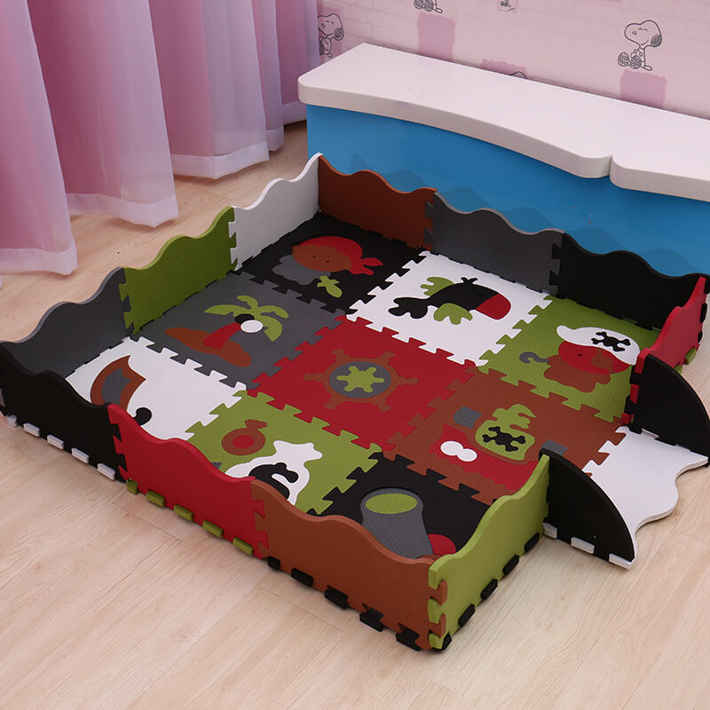 animals numbers pattern EVA baby play mat 9pcs foam puzzle game cushion for kids gym baby activity crawling rug toys Mei Qi Cool