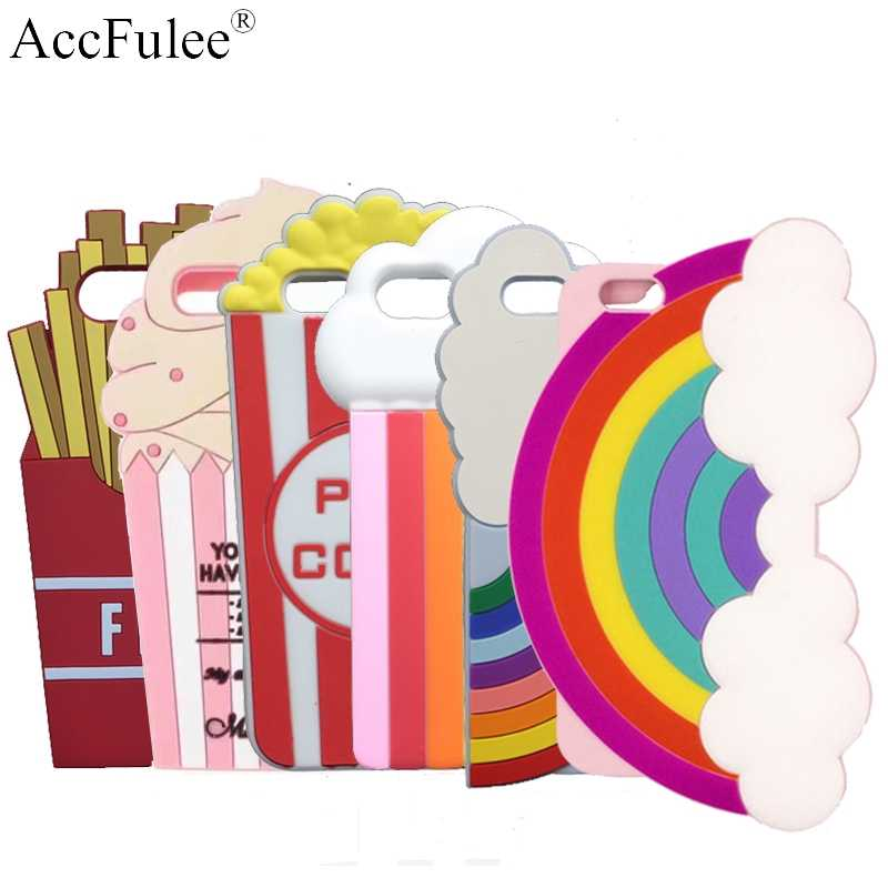 3D Beer Milk Shake Lobster Soft Case For iphone X XR SX Max 5S SE 5C 6 6S 7 7 8 Plus Rainbow Popcorn Fries Ice Cream Phone Shell