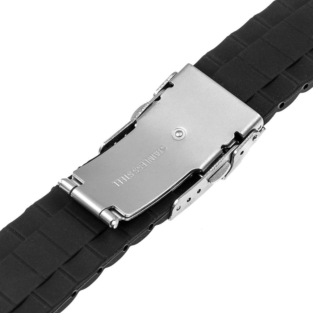 20 мм силиконовый резиновый ремешок - Аксессуары для часов - Фотография 3
