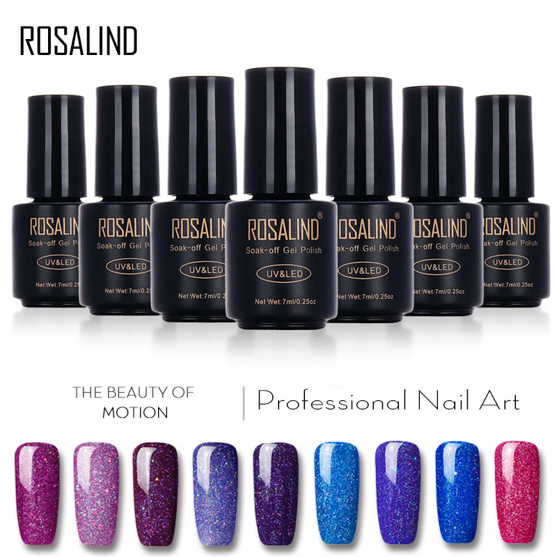 ROSALIND Gel 1S Nails rainbow Gel 7ML uv led gel nail polish Can Be Soak Off Nail Polish Nail Art UV&LED Gel Polish Varnish масло моторное magnatec 5w 30 a5 4л