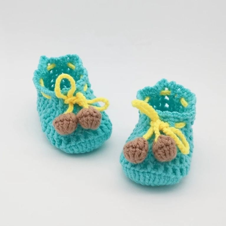 크로 셰 뜨개질 아기 신발, 아기 흰색 플립 퍼, 크로 - 아기 신발