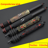 7inch 11inch Archery Bow Stabilizer Aluminum Alloy Shock Absorber Vibration Compound Bow Damper Hunting Accessory