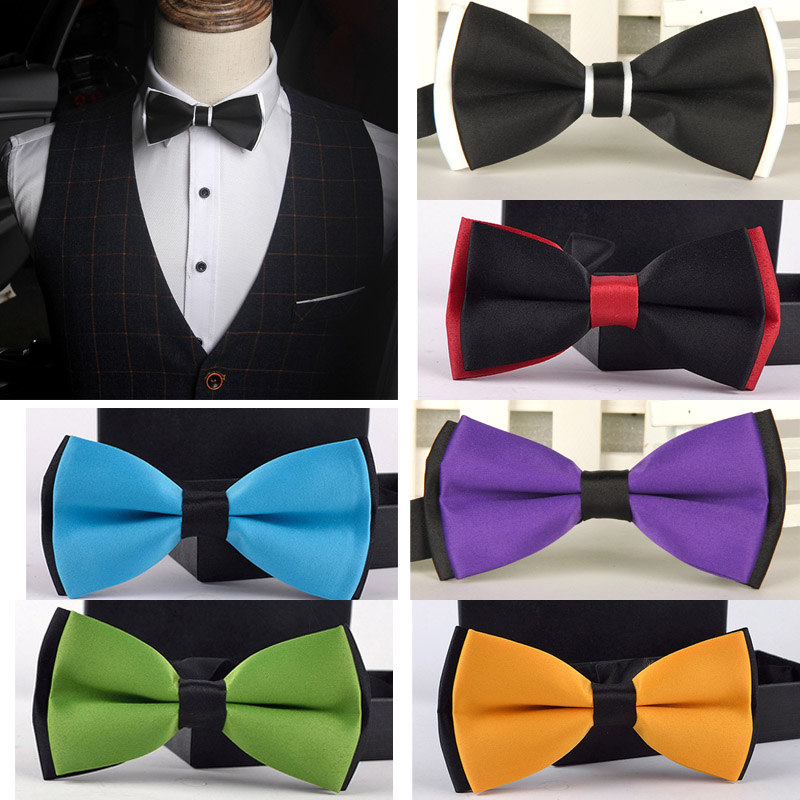 Men/'s Bowtie business butterfly party necktie wedding Dress gift Stripes bow tie