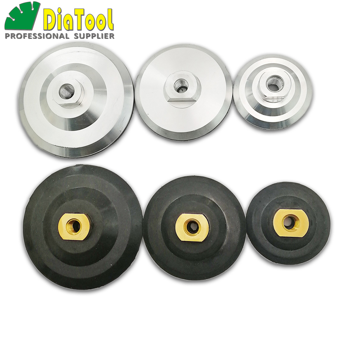 DIATOOL Back Pad For Diamond Polishing Pads M14 Thread Diameter 3