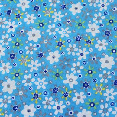 1 Pezzo 150*50 Cm 100% Tessuto Di Cotone Blu Fiore Bianco Stampato Per Quilting, Tilda Cloth, Tessuto Per I Giocattoli Portafogli Pb047 Vendite Di Garanzia Della Qualità