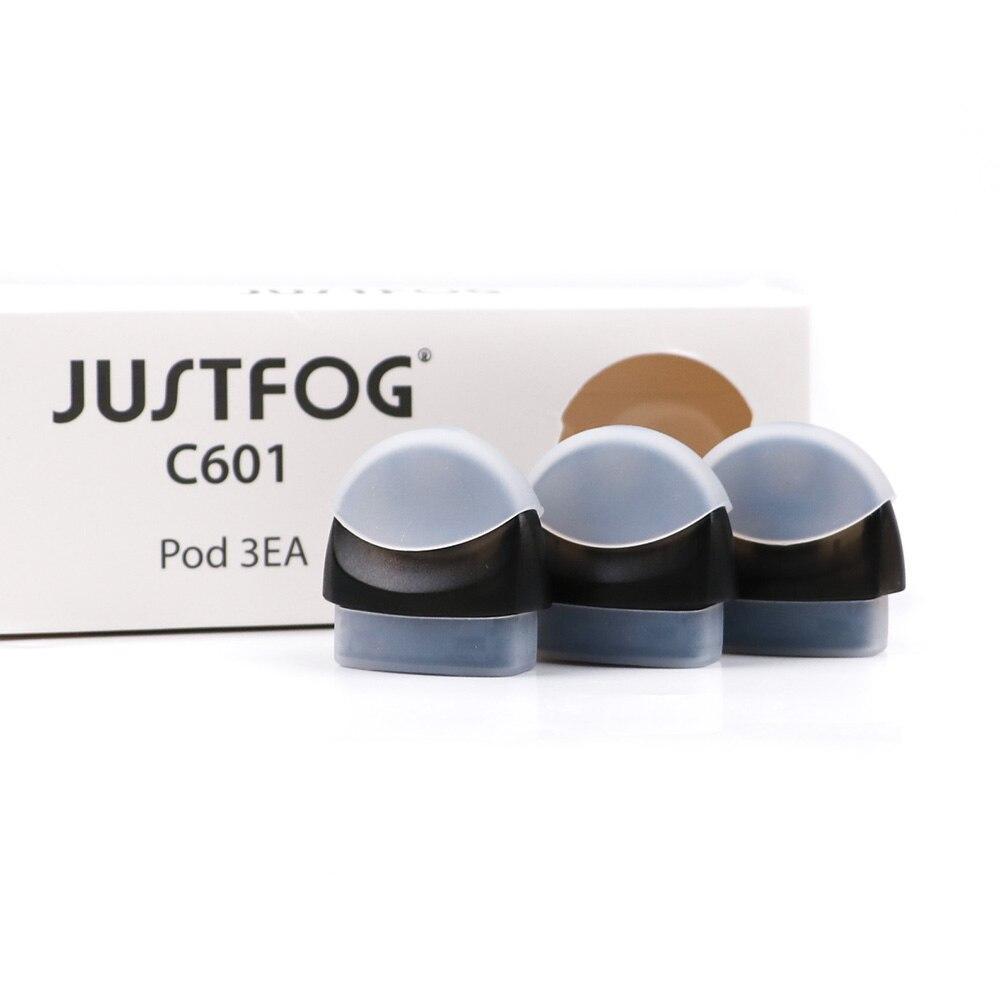 Original Justfog C601 pod 3 piezas por paquete para justfog C601 kit de arranque 1,7 ml de capacidad de recarga pod cartucho
