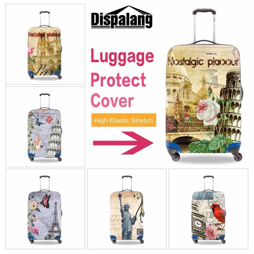 37ef2f0d3d45 Hot trendy Eiffel tower printed trolley luggage cover waterproof ...