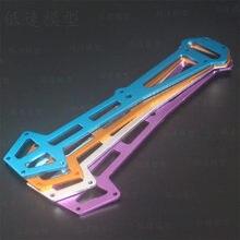 Peças de rádio de alumínio hsp 03002, bandeja azul e roxo para 1/10 hsp 94103/94103pro/94123/94123pro carros rc